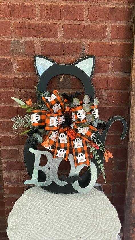 Halloween Black Cat Door Hanger