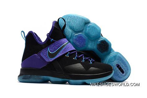 52a0fb0fd79a Nike LeBron 14 Black Purple Jade New Style