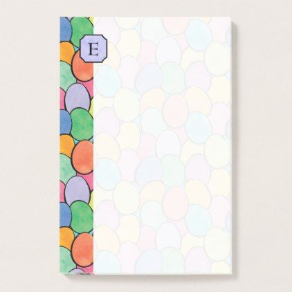 Colorful easter eggs monogram 4x6 post it notes monogram gifts colorful easter eggs monogram 4x6 post it notes monogram gifts unique design style monogrammed negle Choice Image