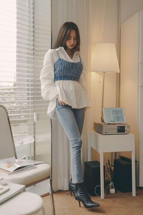 Light Wash Straight Leg Jeans CHLO.D.MANON   Shop feminine & adorable Korean clothing, bag, shoes, acc for an instant charm!