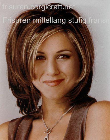 Frisuren Mittellang Stufig Fransig Schulterlange Haarschnitte Frisuren Schulterlang Haarschnitt Rundes Gesicht