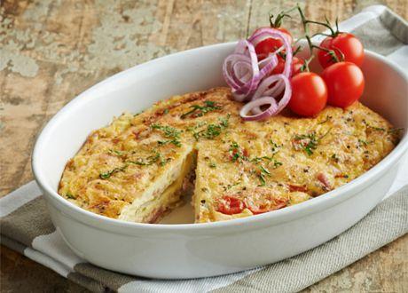 nyttig omelett i ugn