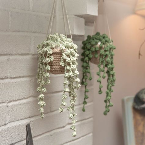 My crocheted string of pearls! - houseplants