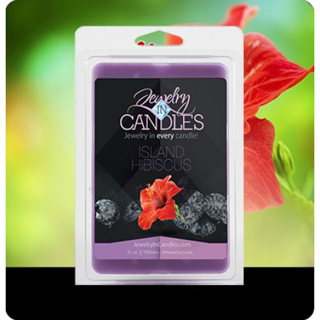 Fresh from the tropics! As sweet and fragrant as the flower it is named after. Floral notes of hyacinth, jasmine and gardenia blend with a hint of light musk and amber to round out this intoxicating blend. Island Hibiscus Wax Tarts   Infused with natural essential oils, including Orange, Patchouli, Violet Leaves, Jasmine, Neroli, Mimosa and Sandalwood.  ​Jumbo 5.5oz package of 6 scented wax tarts