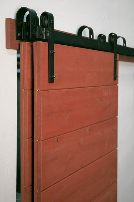 Bypass Double Barn Door Hardware Kit With Images Barn Doors