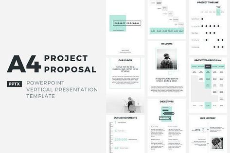 Simple PowerPoint Template by slideforest on @creativemarket - powerpoint proposal template