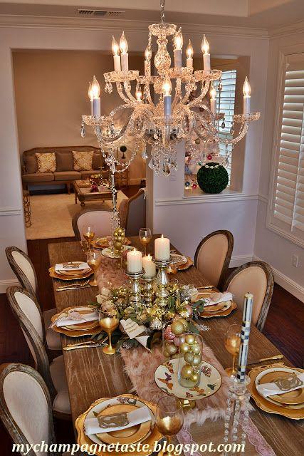 Home Decor Diy Do It Your Self Christmas Dinner Decor Idea