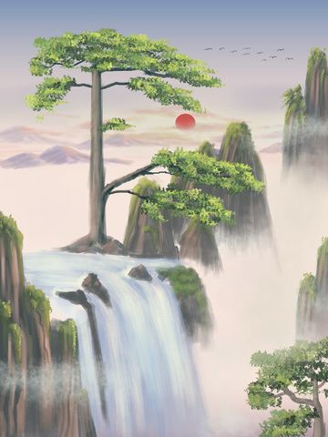 Millions Of Png Images Backgrounds And Vectors For Free Download Pngtree Landscape Paintings Chinese Landscape Landscape Background