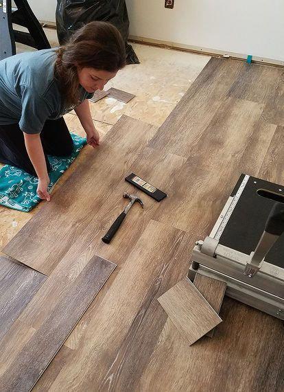 How To Install Vinyl Plank Flooring Remodeldiy Diy Kitchen Flooring Installing Vinyl Plank Flooring Diy Flooring