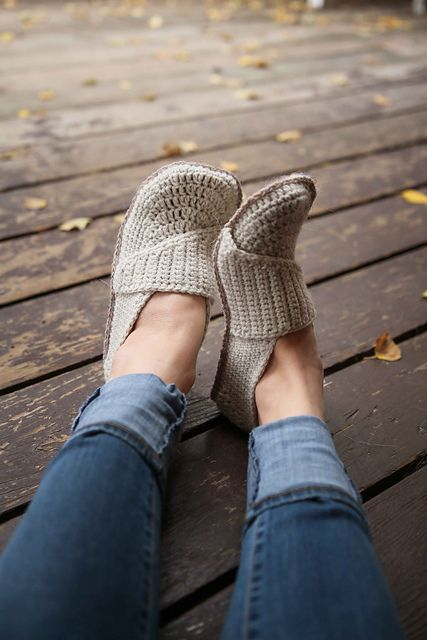 Ravelry: Adult Little Wrap Slippers pattern by Mamachee