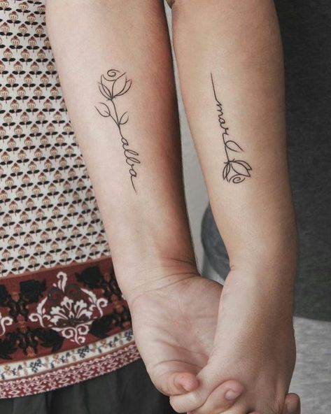 Sister tattoo, tattoo ideas, friend tattoo, matching tattoo.