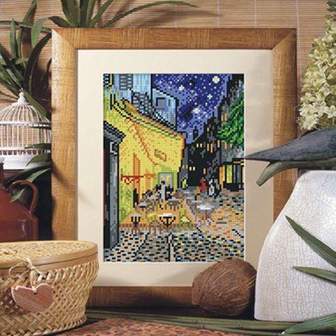 Terraza De Café Por La Noche De Van Gogh Van Gogh Punto