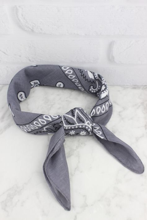 Grey Paisley Bandana, - Wildest Dreams