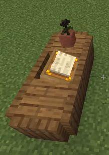 1 14 Minecraft Build Hacks Desk W Lectern Minecraft Creations Easy Minecraft Houses Minecraft Houses