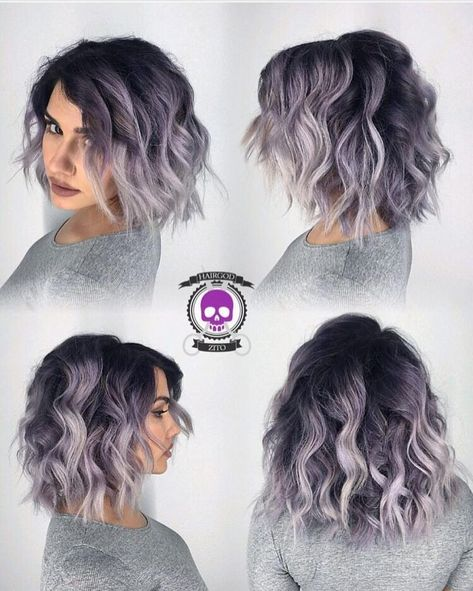 Smoke and Lace Gorgeous silver lob by @hairgod_zito #hotonbeauty #hothairvids #b