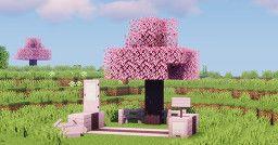 Wistful S Sakura Trees Minecraft Texture Pack In 2021 Sakura Tree Texture Packs Sakura