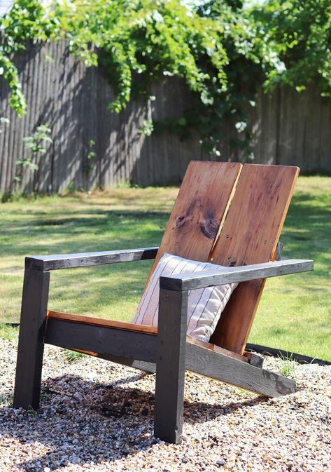 Diy Garden Furniture, Diy Furniture Projects, Diy Patio Furniture Cheap, Outdoor Furniture, Lawn Chairs, Garden Chairs, Wood Patio Chairs, Garden Beds, Diy Möbelprojekte