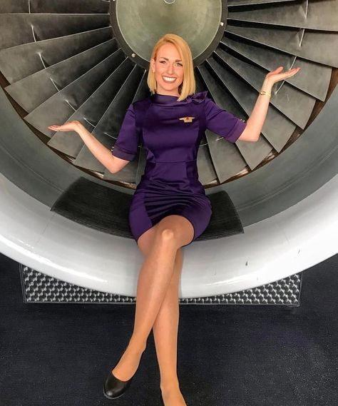 Image may contain: one or more people, people sitting and shoes Flight Attendant Hot, Airline Attendant, Beautiful Legs, Gorgeous Women, Pantyhose Outfits, Nylons, Fashion Tights, Cabin Crew, Sexy Stockings
