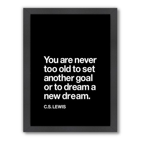 Americanflat Motivated Type ''You Are Never Too Old'' Framed Wall Art, Multicolor