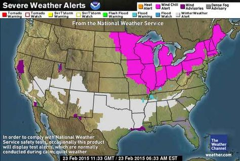US Severe Weather Alerts Weather In Fremont Pinterest Severe - Us severe weather alerts map