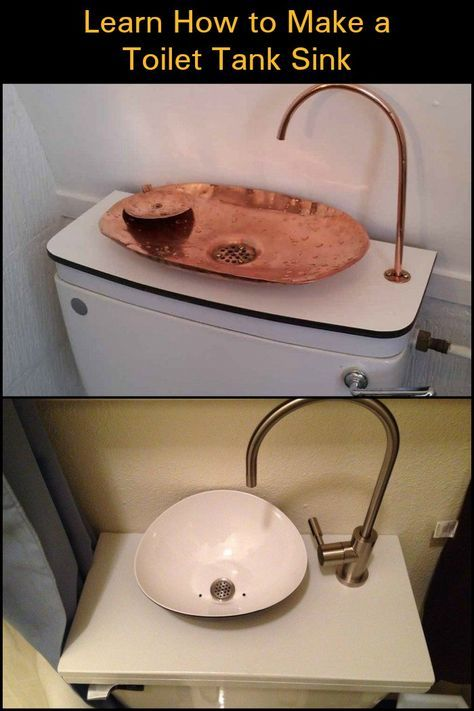 Save Money By Reducing Water Consumption With This Diy Toilet Tank Sink Toilet Tank Sink Toilet