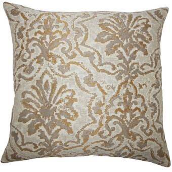 Eleta Square Cotton Pillow Cover And Insert In 2020 Damask Throw Pillows The Pillow Collection Damask Bedding