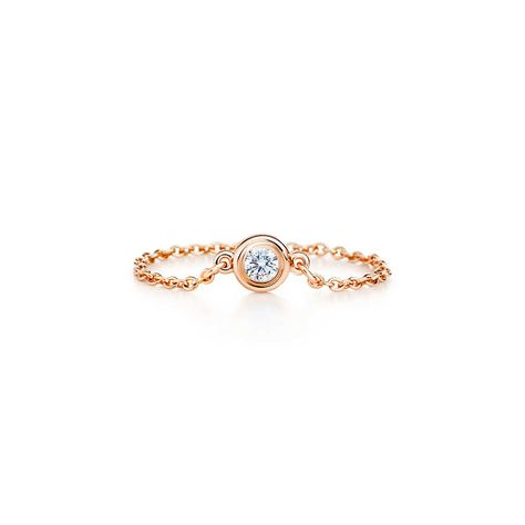 Tiffany Diamonds by the Yard ring in 18k rose gold, $625.00.