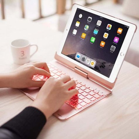 360 Rotation Bluetooth Wireless Keyboard Cases For Ipad 2018 9 7 6th Generation 2017 5th Generation Ipad Air 2 Air 1 In 2020 Ipad Accessories Cute Ipad Cases Ipad Case