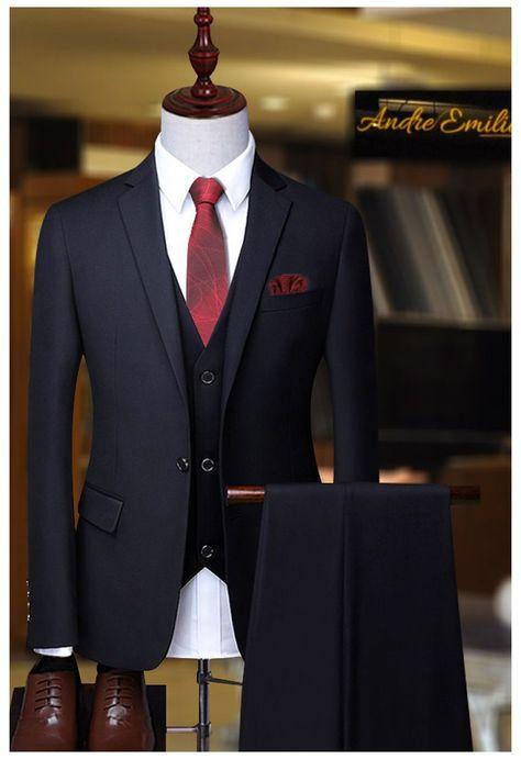 Mens Casual Suits, Dress Suits For Men, Stylish Mens Outfits, Mens Suits, Blazer Outfits Men, Mens Fashion Blazer, Suit Fashion, Gents Fashion, Blue Suit Men