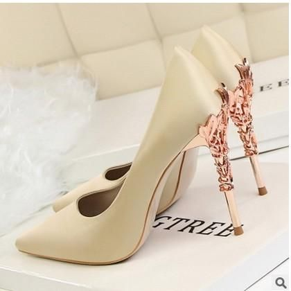 Fashion Women's High Heels Shoes With Thin Metal Stilettos ...
