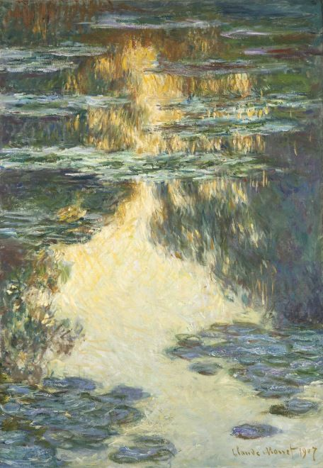 Claude Monet, Waterlilies 1907  [My love of art started with Claude (yes, we're on first name terms), since then I've gradually moved away from the impressionists, but this one is still one of my all time favourites.]