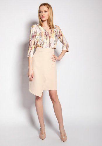 Dopasowana Spodnica Bezowa Lsp126 Womens Skirt Skirts Dresses For Work