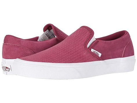 32d29f2b2 Vans Classic Slip-Ontm Skate Shoes (Suede) Dry Rose Emboss ...