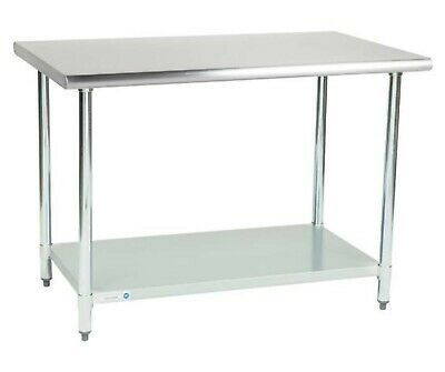 30 X 48 Stainless Steel Work Prep Table With Undershelf Kitchen Restaurant New In 2020 Stainless Steel Work Table Kitchen Work Tables Stainless Table