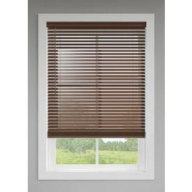Levolor 2 In Cordless Walnut Room Darkening Faux Wood Blinds