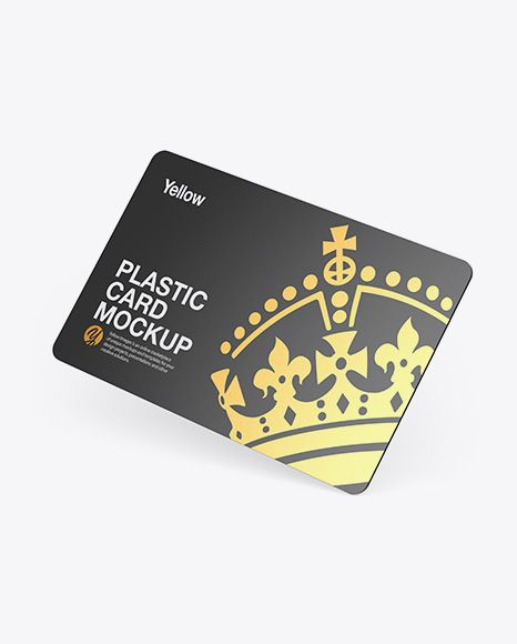 Plastic Card Mockup In Stationery Mockups On Yellow Images Object Mockups Stationery Mockup Plastic Card Cards