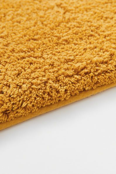tapis de bain jaune moutarde home