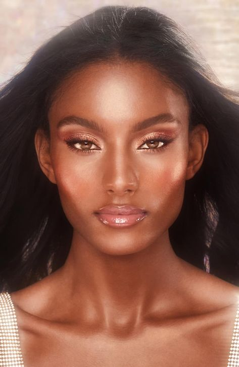 Black Girl Makeup, Girls Makeup, Glam Makeup, Makeup Inspo, Bridal Makeup, Makeup Inspiration, Beauty Makeup, Black Wedding Makeup, Nude Makeup