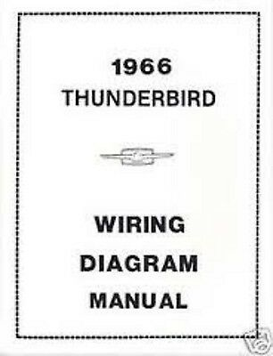 1966 Ford Thunderbird Tbird Wiring Manual In 2020 Ford Thunderbird Thunderbird Manual