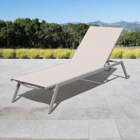 Sensational Corvus Torino Sling Fabric Reclining Outdoor Chaise Lounges Evergreenethics Interior Chair Design Evergreenethicsorg