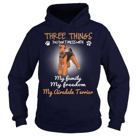 Airedale Terrier Herz heartbeat Hoodie Sweatshirt Pullover Unisex Hundemotiv