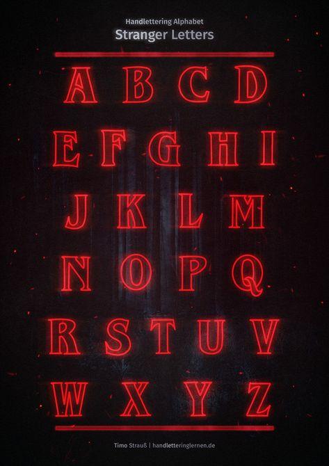 Stranger Letters (Handlettering Alphabet)