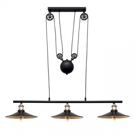 Lampara 3 rusticavintageLámparas de polea luces Techo Nnm0vw8