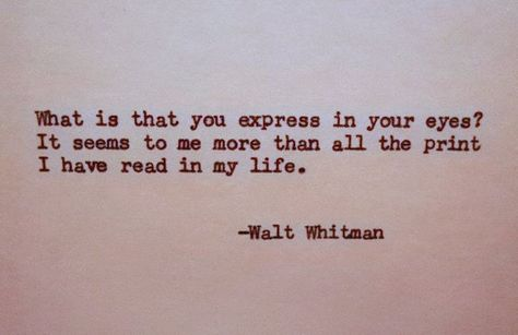 WALT WHITMAN Letterpress Typed Quote Love Poem Walt Whitman Quote Hand Typed Typewriter Quote with Vintage Typewriter Art Paper Goods Cards