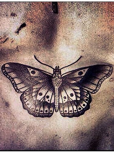Harry Styles new butterfly ink tattoo - hot or not? #tattoo #chest #butterfly