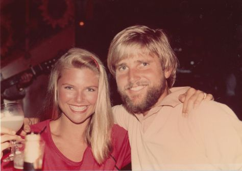 ChristieBrinkley#young With brother Greg. Still think he's better looking than she is...  #christiebrinkleyteen