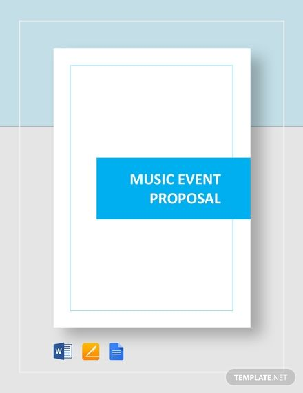 Music Event Proposal Event Proposal Event Proposal Template