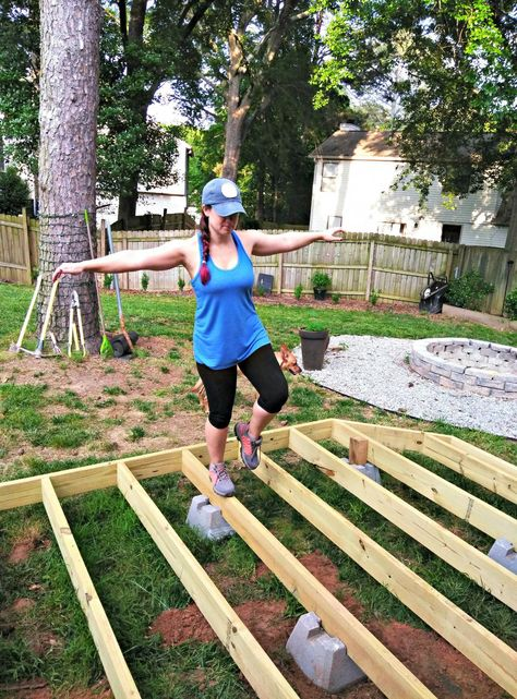 DIY Floating Deck, Part 1: Planning and Layout #deckdesigns