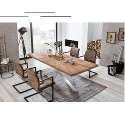 Indischemobel Farbe Farbe Tischplatte Natur Farbe Gestell Silber Farbe Natur Silber Massangaben Breite 200 Cm Tiefe 100 Cm Hohe 77 Cm Breite Tischplatte 200 C Em 2020