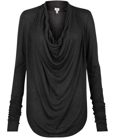 Charcoal Cowl Neck Draped Front Top, Helmut. Shop the latest women's tops from the Helmut collection online at Liberty.co.uk